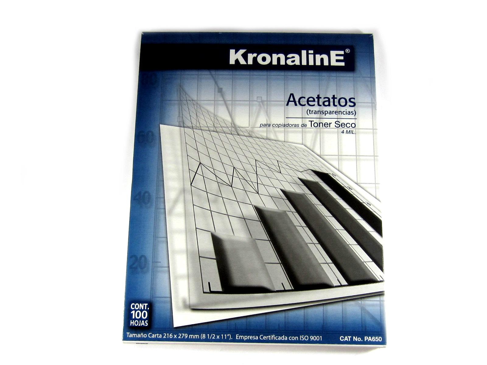 Acetato Kronaline Carta C 100 Pa 650 Proveedora De Oficinas